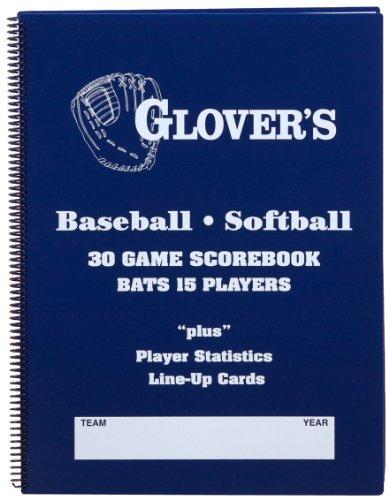 Glover's Scorebooks 9 to 15 Player Baseball/Softball Scorebook (30 Games)