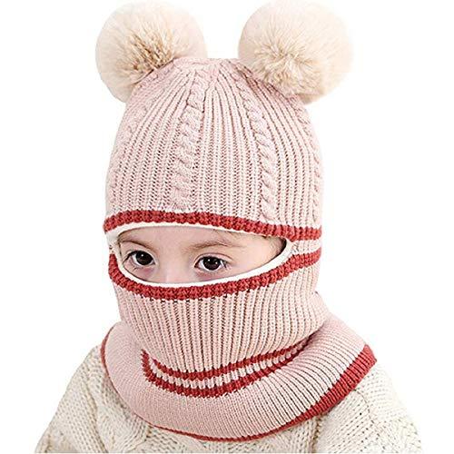 Rehomy Kids Winterhoed, Outdoor Winddicht Thermisch Fleece Balaclavas Knit Sjaal Oorflap Hood Schedel Caps voor Ski Skateboarden - 2-5 Jaar