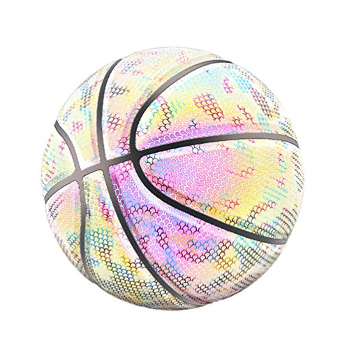 Cheapest Price! BESPORTBLE Luminous Basketball PU Holographic Glowing Reflective Light Up Night Stan...