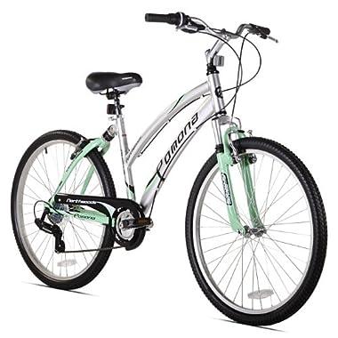 Northwoods Pomona Women's Dual Suspension Comfort Bike, 26-Inch