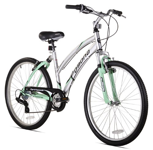 Kent Pomona Women's Dual Suspension Comfort Bike, Mint Green/Silver