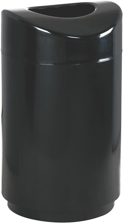 Rubbermaid Commercial Executive Series Eclipse Trash Can, 30 Gallon, Black, FGR2030EPLBK