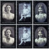 TreatMe 3D Changing Face Moving Picture Frame - 3pcs 3D Photo Frame Horror Lenticular Morphing Portrait Wall Decoration for Halloween Party Home Bar Spooky Wall Picture