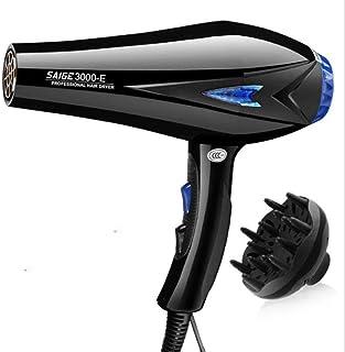 CFJ-GY Secadores de pelo Secador de cabello iónico de 3000 vatios con acondicionador iónico (negro)
