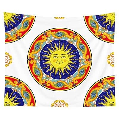 PPOU Tapiz de Mandala Manta para Colgar en la Pared de Moda Decoración para el hogar Cubierta de Pared Cubierta de Polvo Multifuncional Mantel Toalla de Playa A10 150x200cm