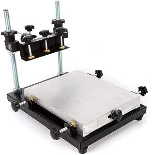 Manual Solder Paste Printer, PCB SMT Stencil Printer Printing Area 300x240mm Table Screen Printer High Precision Printing Machine, 0-120mm Adjustable Height