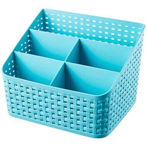 Storage Boxes & Bins - Miscellaneous Classification Skin Care Box Lipstick Debris Jewelry 5 Grid Plastic Imitation Rattan - Bins Organizers Storage Boxes