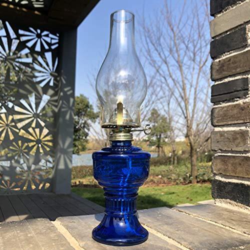 Candiles Decoracion Lamparas de Aceite Retro Decorativos Alta Resistencia al Calor Gran Capacidad (Color:Azul)