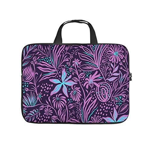 Bolsa para portátil con diseño de mandala, con flores, para el trabajo, negocios, resistente al agua