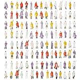 120 Piezas Figuras de Personas en Miniatura para Modelismo, Modelo a Escala  Mezcla Pintada, Durable  Tren Ferrocarril Parque Calle Jardín Pasajero Juguetes Escolar para Niños y Adultos.