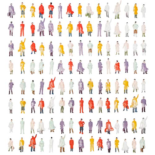THE TWIDDLERS 120 Modell Figuren, Modelleisenbahn Figuren, Miniatur Menschen, 2cm - Mischen Gemalt.