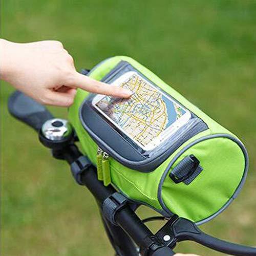 YHDQ Fahrradlenker Kopf Tasche-Touchscreen Handytasche-MTB Fahrradzubehör Fahrradtasche22 * 12 * 12CM