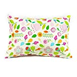 2 Colorful Floral Print Pillowcases, Pillow Covers for Toddler/Travel Pillows