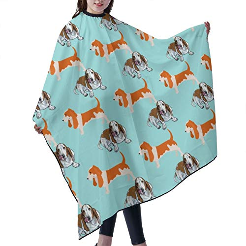 Basset Hound Dog Hair Salon Capes Polyester Haircut Apron Hair Cut Cape For Styling Hair Cut Hairdresser, 55