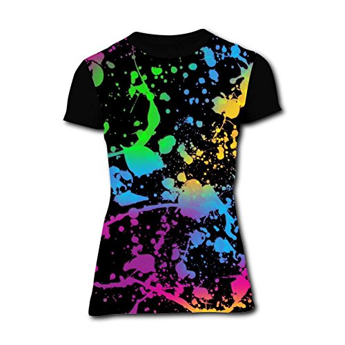 Glow in Dark Paint Splash Youth//Kids Casual T-Shirt 3D Print Short Sleeve