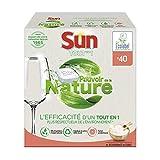 Sun Tablettes Lave-Vaisselle Ecologique Tout-En-1 Pouvoir de la Nature Eco-Label 20 Lavages (20 Tablettes)