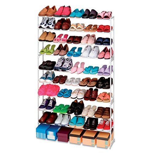 Scarpiera shoes rack amazing 50 paia nuovo salvaspazio organizer ripostiglio. MEDIA WAVE store
