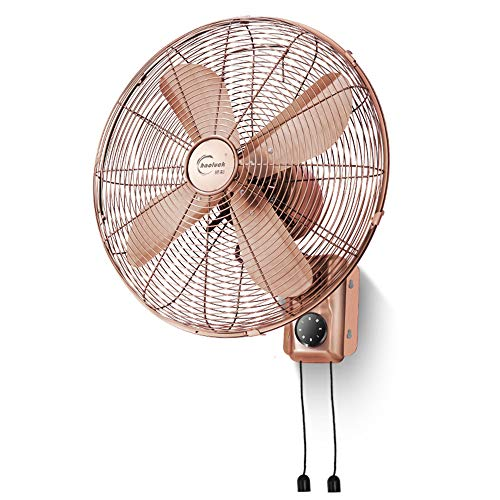 Ventilador eléctrico Ventilador de Pared Retro, Ventilador de Pared mecánico/Control Remoto para el hogar, 16 Pulgadas/Ventilador Antiguo
