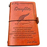 to My Daughter Leather Journal - Enjoy The Ride and Never Forget The