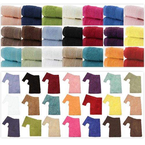 Textiles Direct Serviettes et Accessoires de Bain 100 % Coton égyptien 500 g/m² 30 x 30 cm Blanc