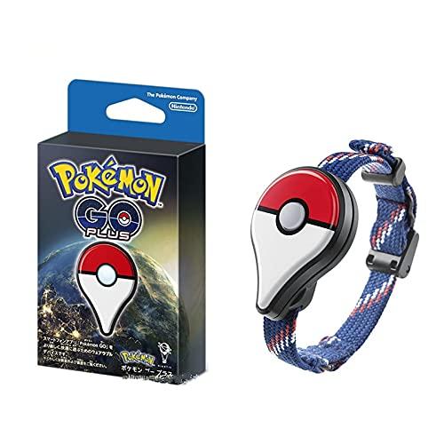 Figura de Anime Pokemon Go Plus Dispositivo de Enlace Pulsera Captura de estatuilla de Pokemon Pikachu Figuras de acción Conexión Bluetooth Sensor Pulsera Juguetes para niños