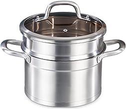 Grote Capaciteit Stoomboot Pot/Stockvector, Steamer Pot Set Met Premium Stomen Raster, Steamer Cookware Met Glazen Deksel(...