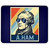 Alexander Hamilton Mouse Pad for Typist Office, American Musical Hamilton Quality Comfortable Mouse Pad (Mouse Pad - Navy)