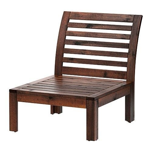 eLisa8 ÄPPLARÖ - One-seat section, outdoor, brown stained