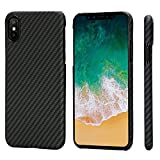 "PITAKA Magnetic Slim Case Compatible with iPhone X 5.8"", MagEZ Case Aramid Fiber [Real Body Arm…"
