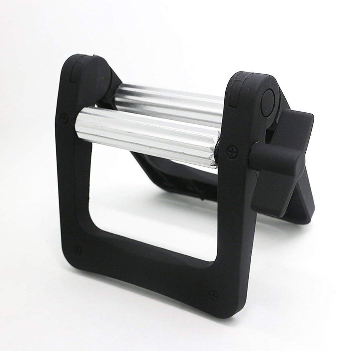 段階人気のスポーツをする多機能金属ローリングチューブスクイーザヘアダイクリームスクイーザ浴室歯磨き粉スクイーザディスペンサーツール - 黒