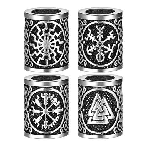 Lurrose 20 stücke wikinger runen perlen vintage dreadlocks zubehör dekoration haarzopf clips flechten haarschmuck