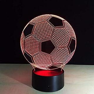 QQWE 7 Colors Changing 3D Illusion Lamp Soccer Night Light Visual Lights Desk Luminaria USB Football Lamp Gift