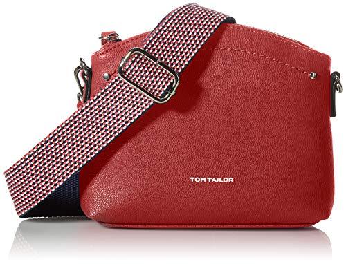 Tom Tailor Delia, Bolsa de cruz. para Mujer, rojo, Small