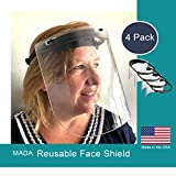 4 Pack Reusable Adjustable Face Shields Made in the USA