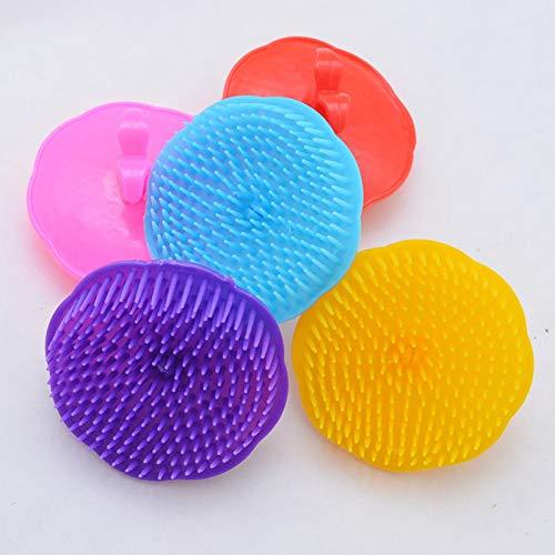 SHUAZI Haarverwijdering Huisdier Haargroei Shampoo Hoofdhuid Lichaam Massager Schone Borstel Kam Huisdieren Producten, Blauw