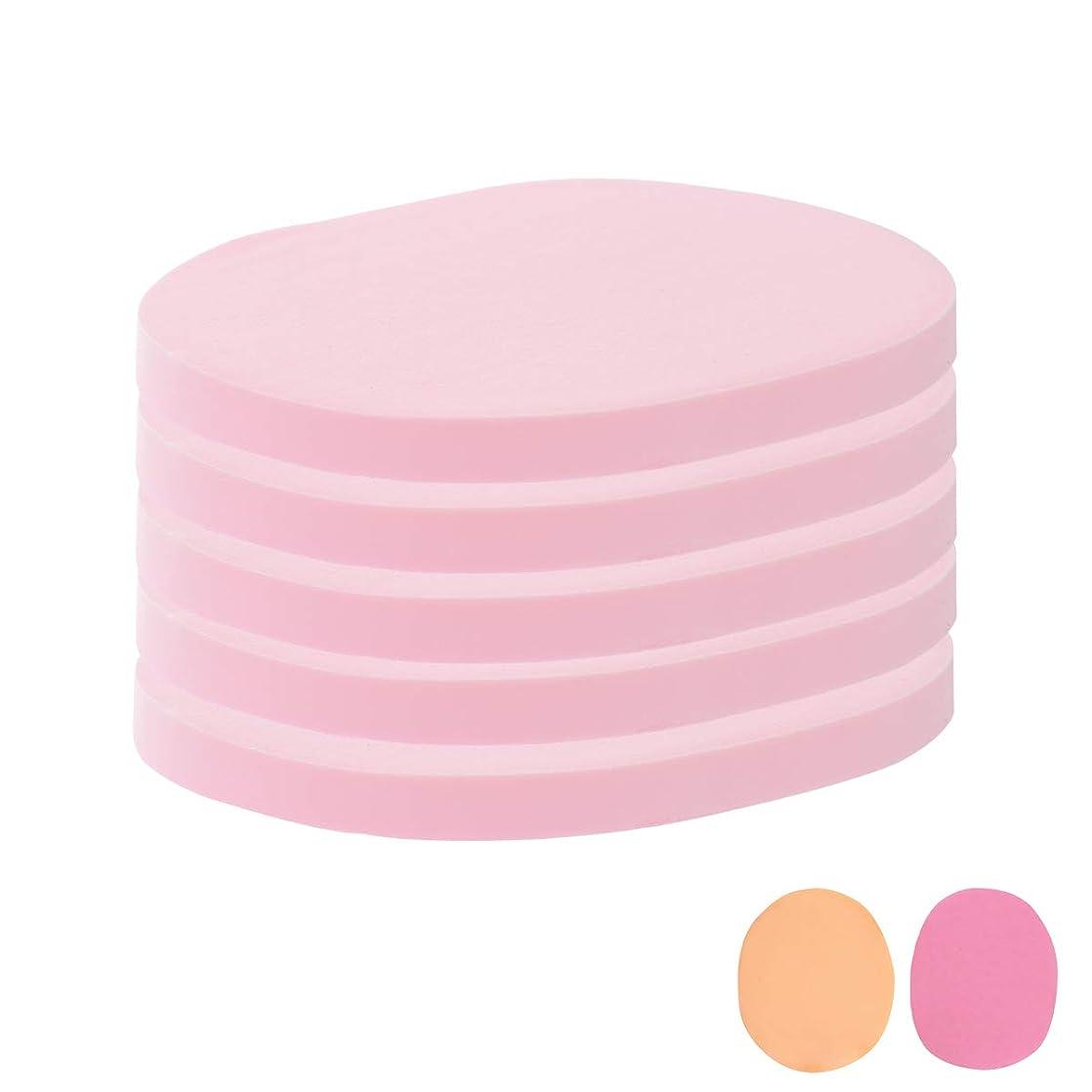 まばたき抑制ジュースフェイシャルスポンジ 全4種 10mm厚 (きめ細かい) 5枚入 ピンク [ フェイススポンジ マッサージスポンジ フェイシャル フェイス 顔用 洗顔 エステ スポンジ パフ クレンジング パック マスク 拭き取り ]