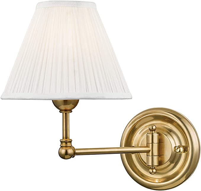 Hudson Valley Lighting Mds101 Agb Classic No 1 By Mark D Sikes Swing Arm Wall Sconce Aged Brass Mark D Sikes Home Improvement