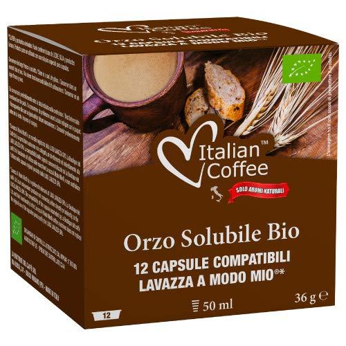 96 Capsule di caffè d'orzo solubile biologico compatibili Lavazza A Modo Mio®* Italian Coffee
