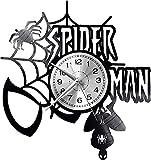 hhhjjj Spiderman Reloj de Pared Disco de Vinilo Reloj Retro Reloj Alto Estilo habitación decoración del hogar Reloj