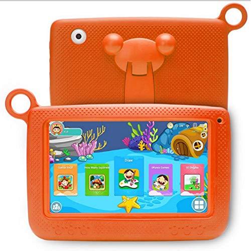 tablet de Aprendizaje Inteligente niños de 7 Pulgadas se Puede conectar a la Pantalla WiFi HD portátil con Cubierta Protectora de Silicona