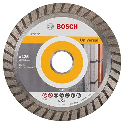 Bosch Professional Diamanttrennscheibe Standard for Universal Turbo (Stein, 125 x 22,23 x 2 x 10 mm, Zubehör Winkelschleifer)
