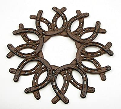 IWGAC 0184S-0072 Cast Iron Horseshoe Wreath