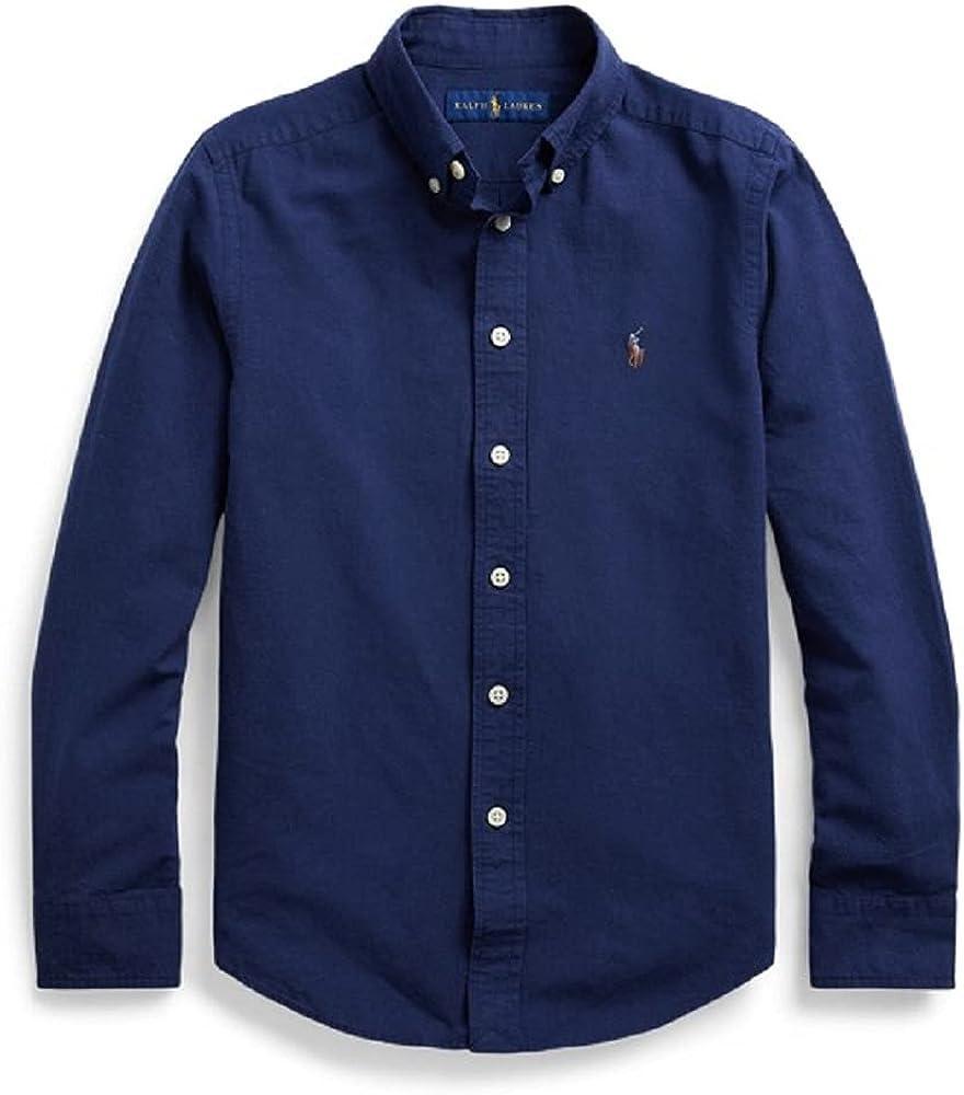 Polo Ralph Lauren Newport Navy Boys Cotton-Blend Shirt, US Medium