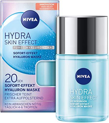 NIVEA Hydra Skin Effect 20 Sek Sofort Effekt Hyaluron Maske, 100 ml, Gesichtsmaske zur Vorbereitung auf die Tages- und Nachtpflege, Maske mit purem Hyaluron [HA]
