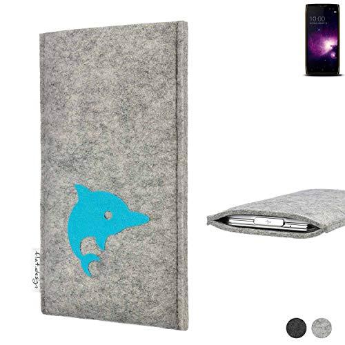 flat.design Handy Hülle für Doogee S50 FARO mit Delphin handgefertigte Filz Tasche fair