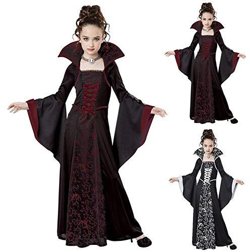 MFFACAI Disfraz de Bruja para Niños, Disfraz de Bruja de Halloween Disfraz de Damas Brujas de Halloween Disfraz de Disfraces de Niñas para Niños Niños Pequeños Niños Niñas,Negro,110