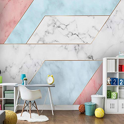 XIAOHUKK 3D Paper Peeling and pasting self-Adhesive Wallpaper Modern Minimalist Geometric Marble Mural Smooth Surface Decoration renovated Room