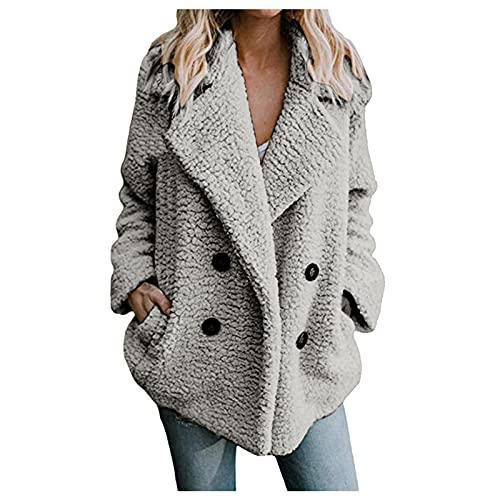 Vexiangni Sudadera de mujer de gran tamaño, con capucha, chaqueta de invierno con cremallera, chaqueta de manga larga, abrigo de felpa, cálida para otoño e invierno, parka monocolor, Negro , XL