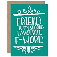 CARD GREETING FRIENDSHIP SECOND FAVOURITE F-WORD GIFT 船贈り物