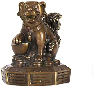 Elephant Statue Brass Zodiac Dog Trigrams Feng Shui Statues Decoration Chinese Decor Figurine for Home and Office, Wealth ...